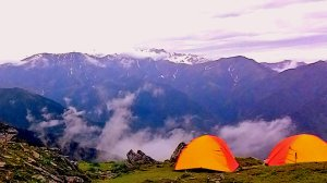 View from our high altitude camp