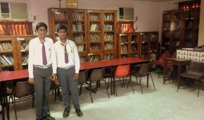 The two young men who took me around at the Library