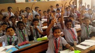 The boys in a cheerfull mood