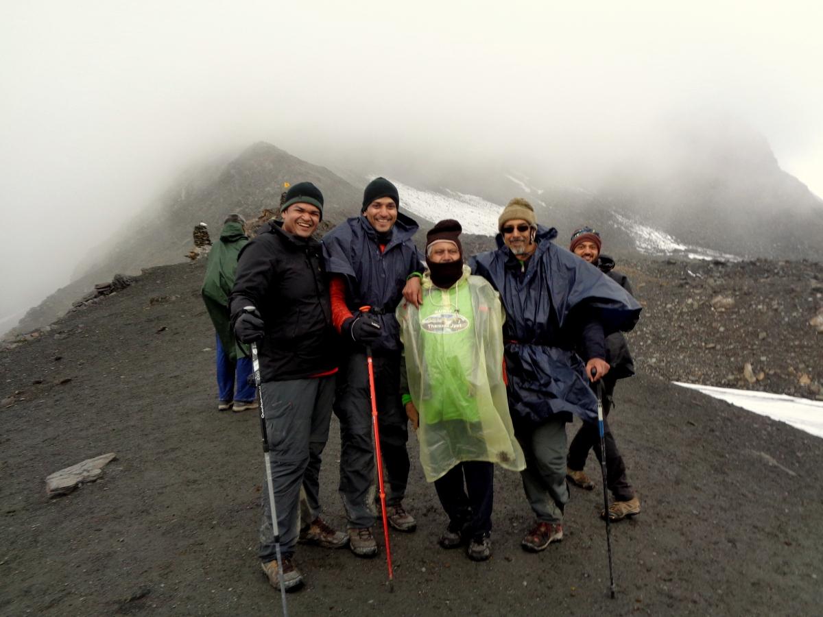 Conquering Thamser Pass ( 4704metres)