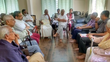 A pow-wow with the residents